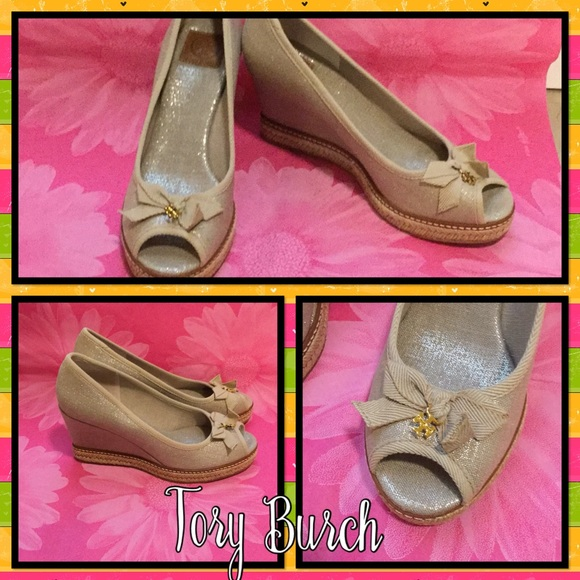 6d5782e3f4f New in Box ~ Tory Burch Metallic Jackie Wedge Boutique